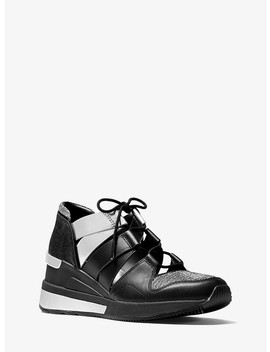 Beckett Chain Mesh And Leather Sneaker by Michael Michael Kors