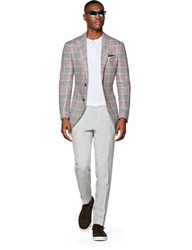 Havana Pink Check Jacket by Suitsupply