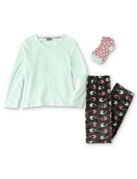 Laura Scott Women's Pajama Shirt, Pants & Socks   Doves by Sears