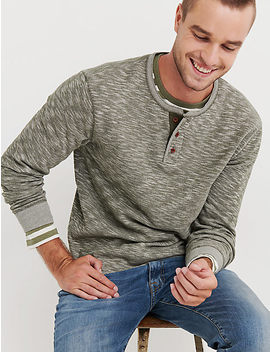 L/S Double Knit Henley by Lucky Brand
