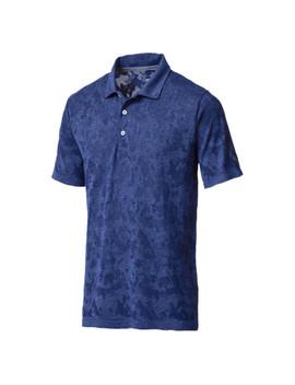Golf Men's Evo Knit Camo Polo by Puma