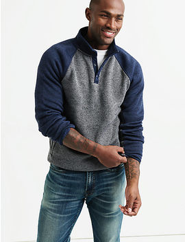 Shearless Fleece Colorblock Mockneck by Lucky Brand
