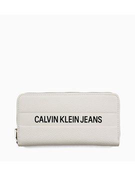 Logo Large Zip Around Wallet by Calvin Klein Jeans