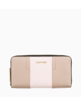 Large Leather Zip Around Wallet by Calvin Klein