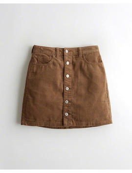 Ultra High Rise Corduroy Skirt by Hollister