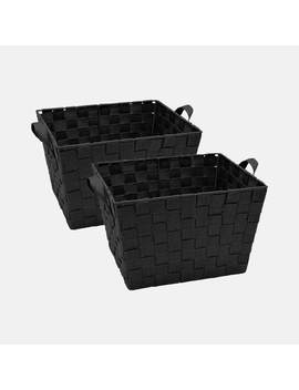 Large Woven Storage Bin Set Of 2 by Dormify