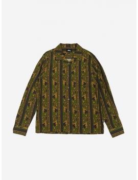 Paisley Stripe Longsleeve Shirt   Olive by Stussy
