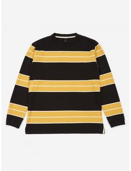 Aberdeen Border Longsleeve T Shirt   Black/Yellow by Manastash