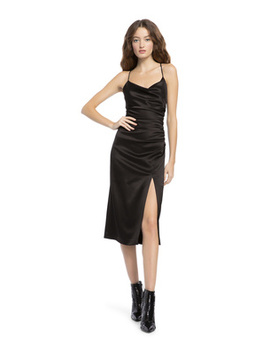 Dion Ruched Midi Dress by Alice And Olivia