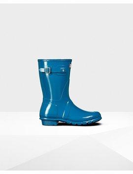 "<Span Itemprop=""Name"">Women's Original Short Gloss Rain Boots</Span>:                     <Span>Ocean Blue</Span> by Hunter"