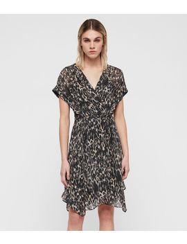 Claria Leopard Dress by Allsaints