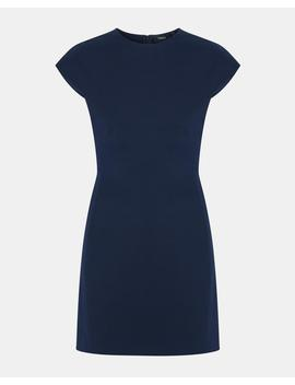 Double Stretch Structured Fitted Dress by Theory