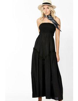 Eva Shirred Bodice Maxi Dress by Decjuba