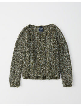 Cable Boat Neck Sweater by Abercrombie & Fitch