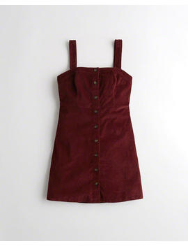 Button Front Corduroy Dress by Hollister