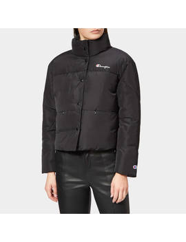 Champion Women's Down Jacket   Black by The Hut