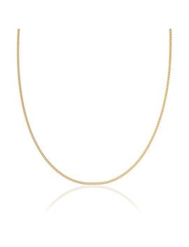9ct Gold Diamond Cut Curb Necklace   50cm by Beaverbrooks