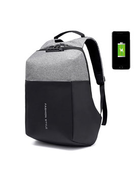 Anti Theft Oxford Waterproof 17 Inch Laptop Bag Usb Charging Port Backpack For Men by Newchic