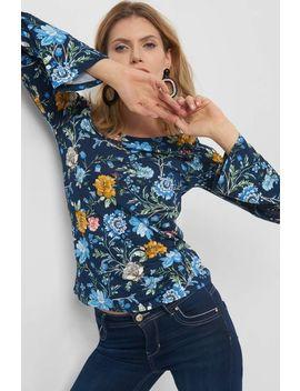Geblümtes Shirt Mit Spitze by Orsay