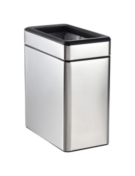 Simplehuman Stainless Steel 2.6 Gal. Profile Open Trash Can by Container Store