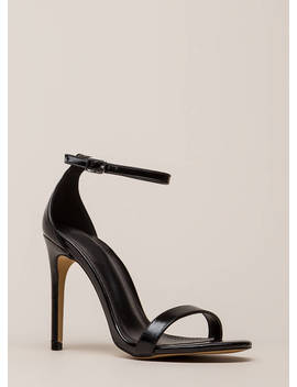 Right Path Skinny Ankle Strap Heels by Go Jane