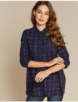 Tilly Check Longline Shirt by Fat Face