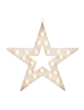Canvas Lit Star Marquee Sign, Assorted, 18 In by Canadian Tire