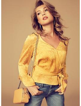 Prism Shimmer Cropped Sweater by Guess