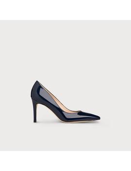 Floret Navy Patent Leather Heels by L.K.Bennett