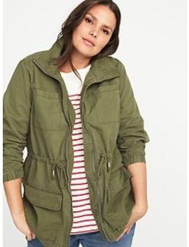 Plus Size Twill Field Jacket by Old Navy