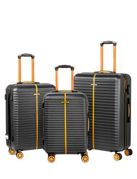 3pc E 1 Black Luggage Set by Travel World