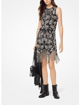 Paisley Embellished Fringe Dress by Michael Michael Kors