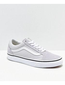 vans-old-skool-gray,-dawn-&-white-shoes by vans
