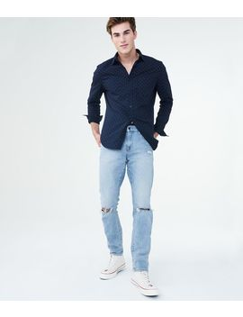 Skinny Light Wash Destroyed Stretch Jean by Aeropostale