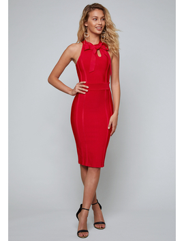 Bow Tie Bandage Dress by Bebe