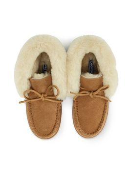 Women's Shearling Bootie Slippers by Lands' End