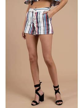 Lost + Wander Azul Multi Stripe Shorts by Tobi