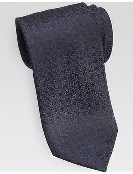 Awearness Kenneth Cole Blue Geometric Dot Extra Long Narrow Tie by Mens Wearhouse