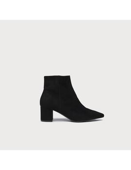 Harry Black Suede Ankle Boots by L.K.Bennett