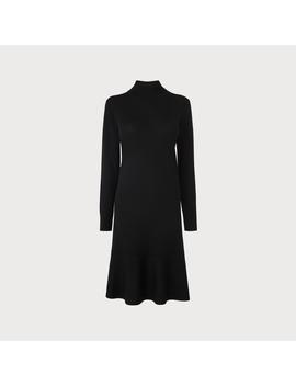 Flossy Black Merino Wool Dress by L.K.Bennett