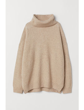 Knitted Cowl Neck Jumper by H&M