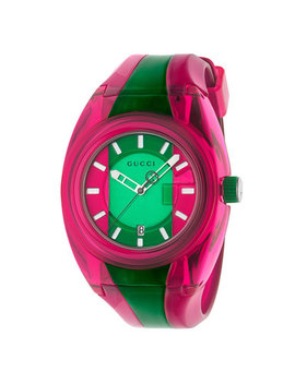 Gucci Sync Pink And Green Watch by Beaverbrooks