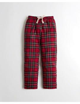 Straight Leg Flannel Boyfriend Sweatpants by Hollister