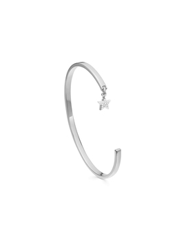Silver Pave Star Charm Cuff by Missoma