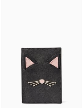 Cat's Meow Passport Holder by Kate Spade
