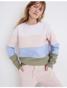 champion-colorblock-crewneck-sweatshirt by madewell