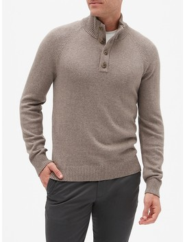 Button Mock Neck Sweater by Banana Republic Factory
