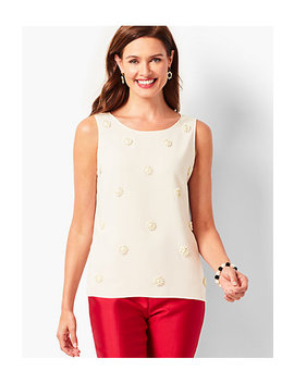 Embellished Polka Dot Shell by Talbots