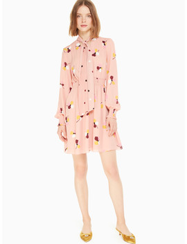 Dusk Buds Print Mini Dress by Kate Spade