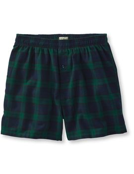 Scotch Plaid Flannel Boxers by L.L.Bean
